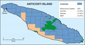 Anticosti License Map
